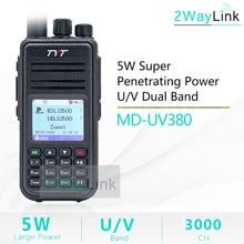 TYT MD UV380 DMR ווקי טוקי Dual Band UHF VHF Tier1/25 W דיגיטלי md380 MD 390 DM 5R DM 8HX MD 380 RT3S baofeng DMR דיגיטלי