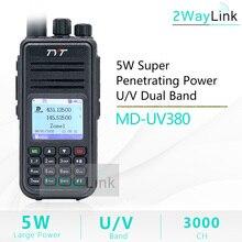 TYT MD UV380 Walkie Talkie DMR Dual Band UHF VHF Tier1/25W Digital md380 MD 390 DM 5R DM 8HX RT3S baofeng DMR Digital