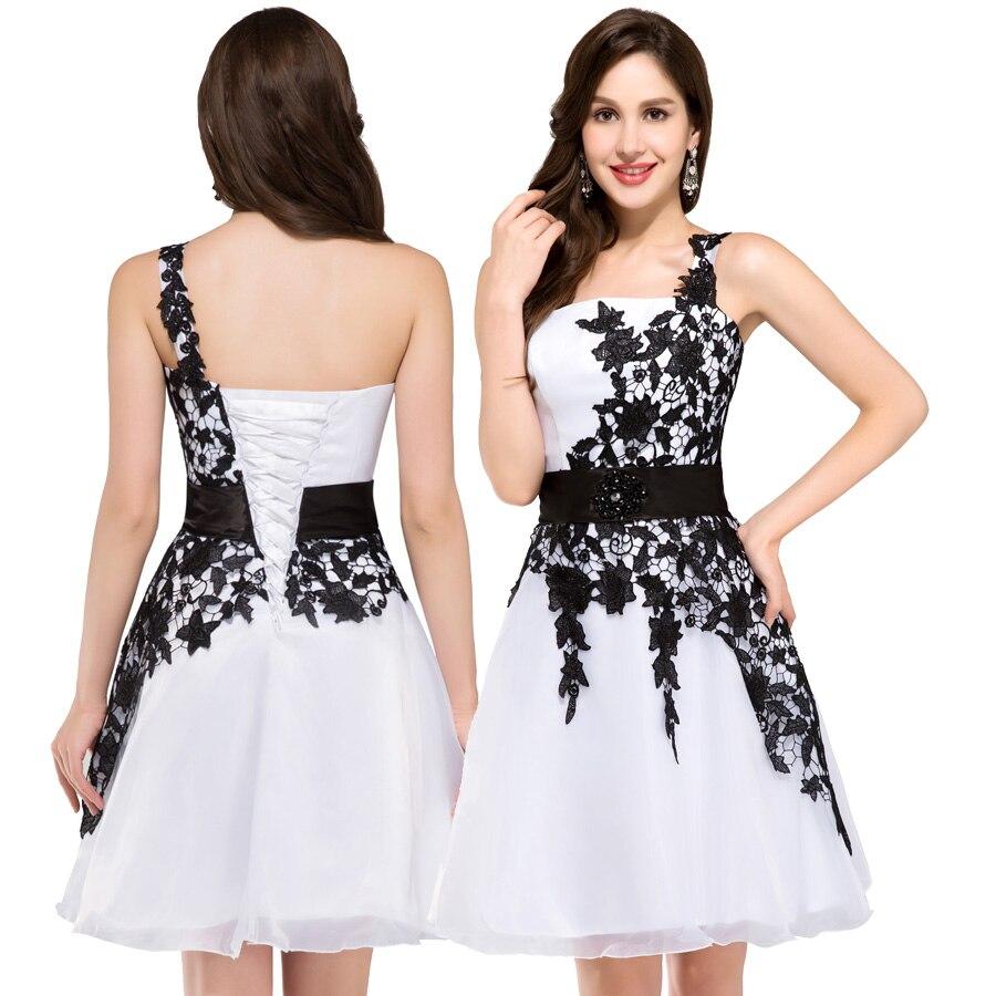 91761c0ebec5 Grace Karin Short Cocktail Dresses 2017 New Sexy Black Appliques ...