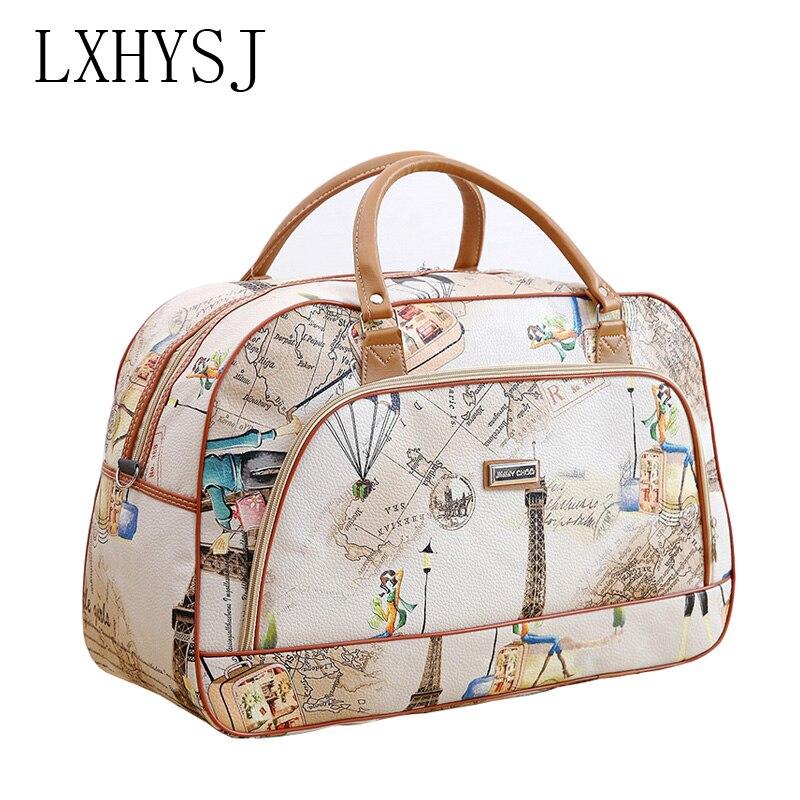 Austria Flag Word Luggage Bag Capacity Portable Large Travel Duffel Bag Travel Organizer
