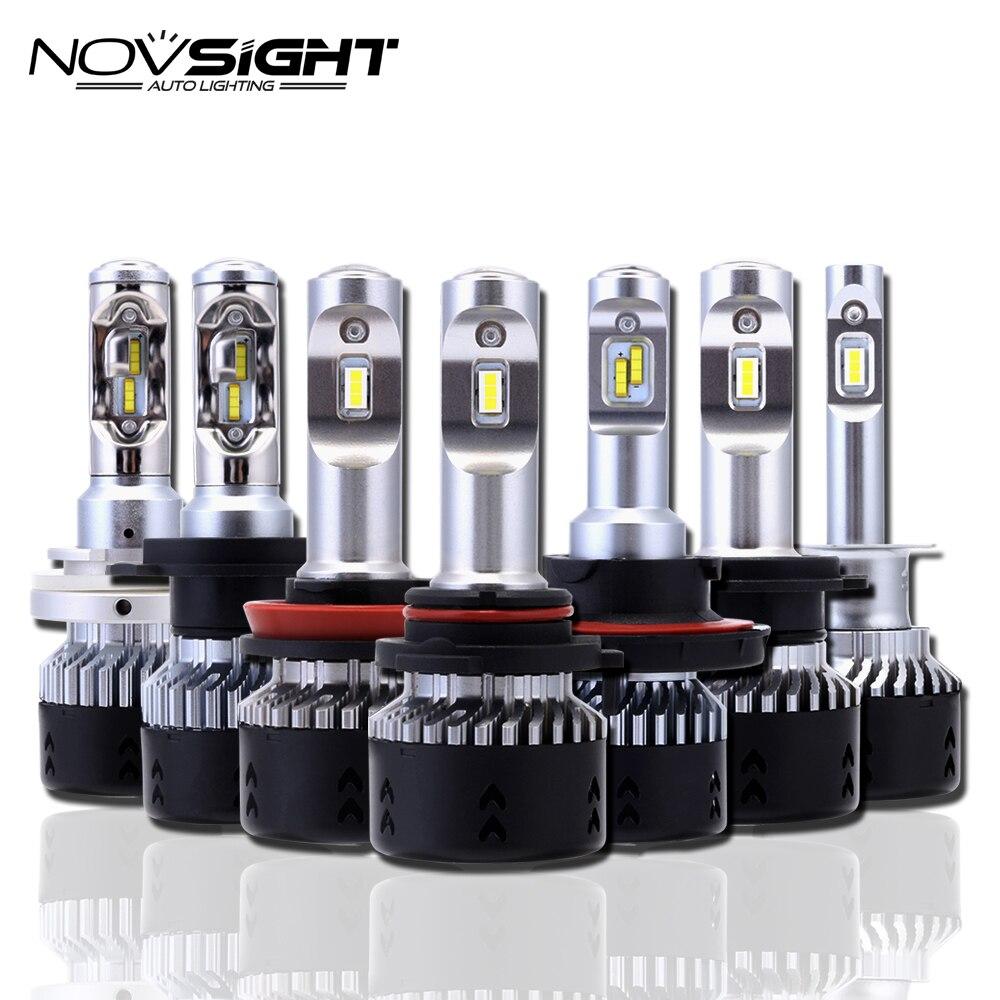 NOVSIGHT H4 H11/H8/H16jp H7 LED De Voiture Phares Ampoules 70 W 10000LM H15 salut/lo Conduite Brouillard H1 H3 9005 9006 Projecteur Lumière D40