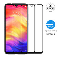 2-Pack Premium Glass for Redmi Note 7 Tempered Screen Protector Xiaomi Pro 6 Full Cover Protect