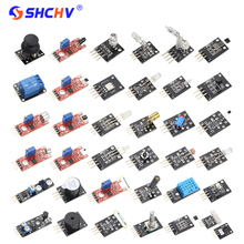 Sale 37 IN 1 Sensor kits for ARDUINO for UNO R3 Starters Kit Transducer for Raspberry Pi 3 2 (Works with Official for Arduino Boards)