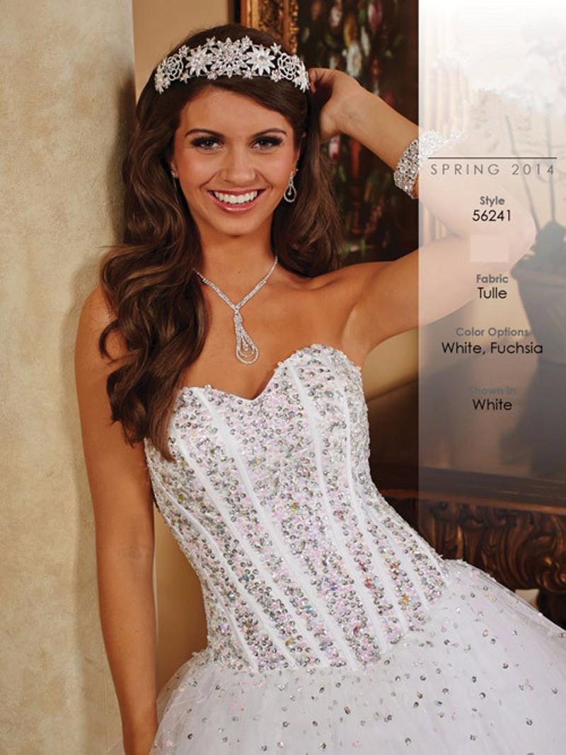 2f50e4e0b blanco Quinceanera Viste la Nueva Colección vestido 15 anos festa Largo Sin  Tirantes Con Cuentas vestido de 15 anos de debutante
