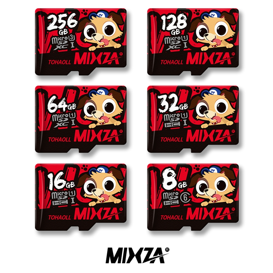 MIXZA Dog Year Memory Card 128GB 64GB 32GB 16GB Micro sd card Class10 UHS-1 flash card Microsd TF/SD Cards for Smartphone/Tablet mixza class10 sdhc micro sd memory card ocean series 16gb