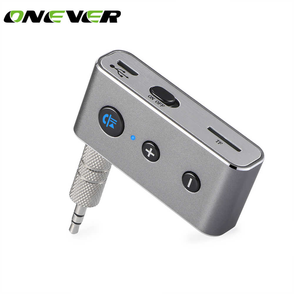 Onever 3.5mm Bluetooth Receiver Music Audio Receiver Adapter Hands-free Car Kit AUX A2DP Streaming Kit for Headphone Car Stereo