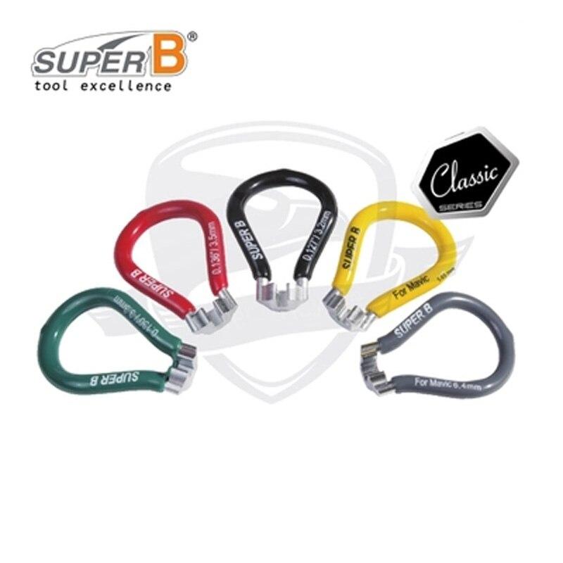 SUPER B 5 Size Spoke Wrench Tools Bike Spoke Wrench Bicycle Repair Tools For 3.2/3.3/3.45 mm nipple mavic 5.65/6.4 mm