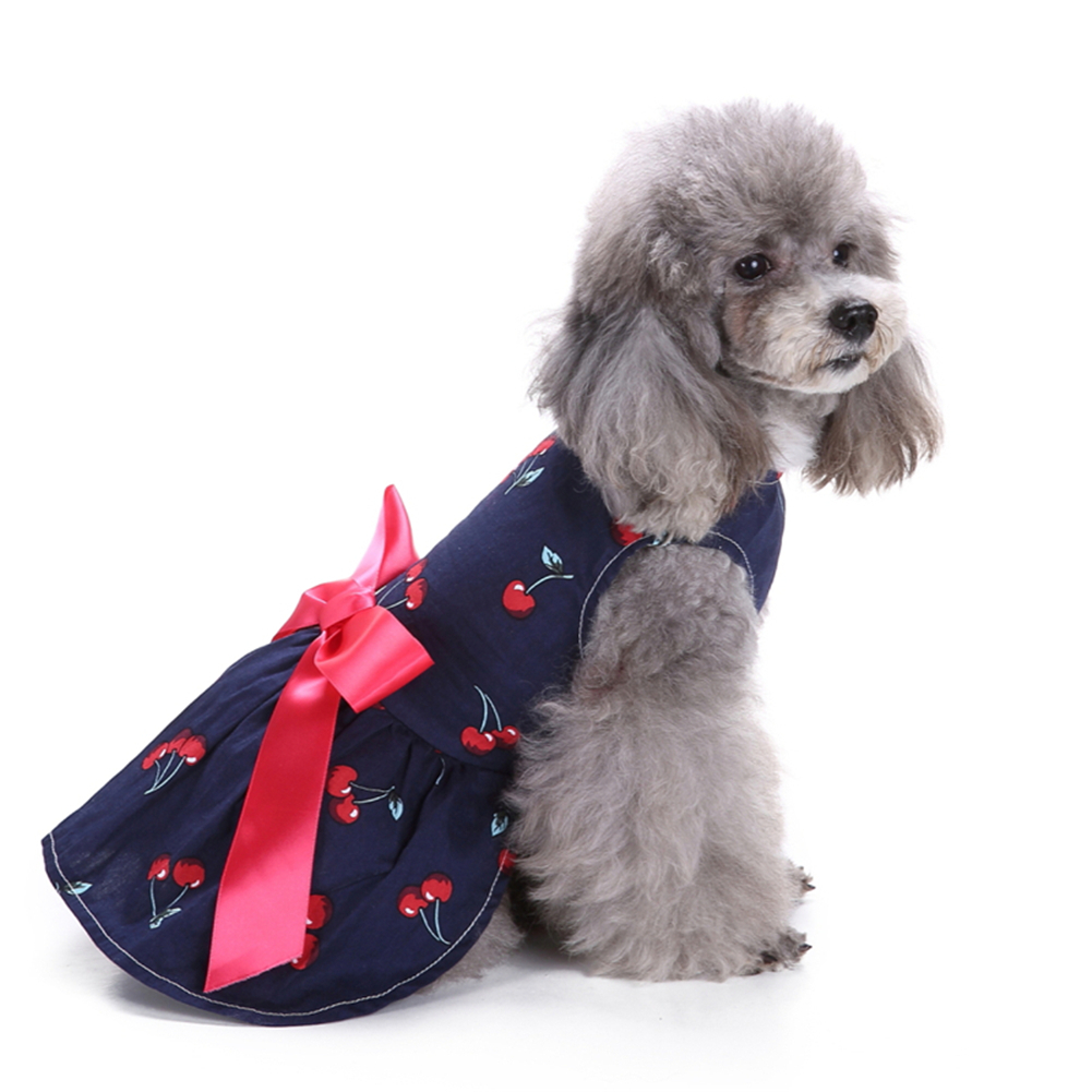 Now Arrival Pet Dog Summer Flower Gauze Bubble Dress Bowknot Princess Clothes Only For Small And Medium Dogs Or Cats Big Clearance Sale Pet Products