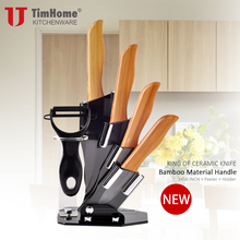 Ceramic knife set 3456 Bamboo handle kitchen knives Paring fruit knives hot sale kitchen tool cutter meat knives