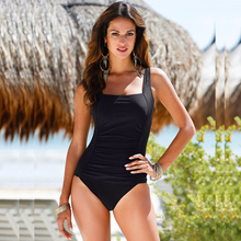 2018 New One Piece Swimsuit Brazilian Bikini Set Sexy Beachwear Plus Size Swimwear Women Bikinis Black Bathing Suit XXXXL BJ272