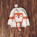 2016 девушка милая 3D анти-лиса свитер мальчик в девочке INS популярные хлопок детская одежда девушки детей верхняя одежда свитер 6 шт./лот