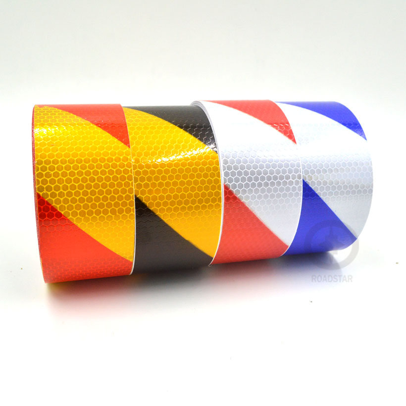 5cmx10m Small Square Self-Adhesive Reflective Warning Tape with <font><b>Red</b></font> White,Yellow <font><b>Red</b></font>,Yellow Black,blue white for Car