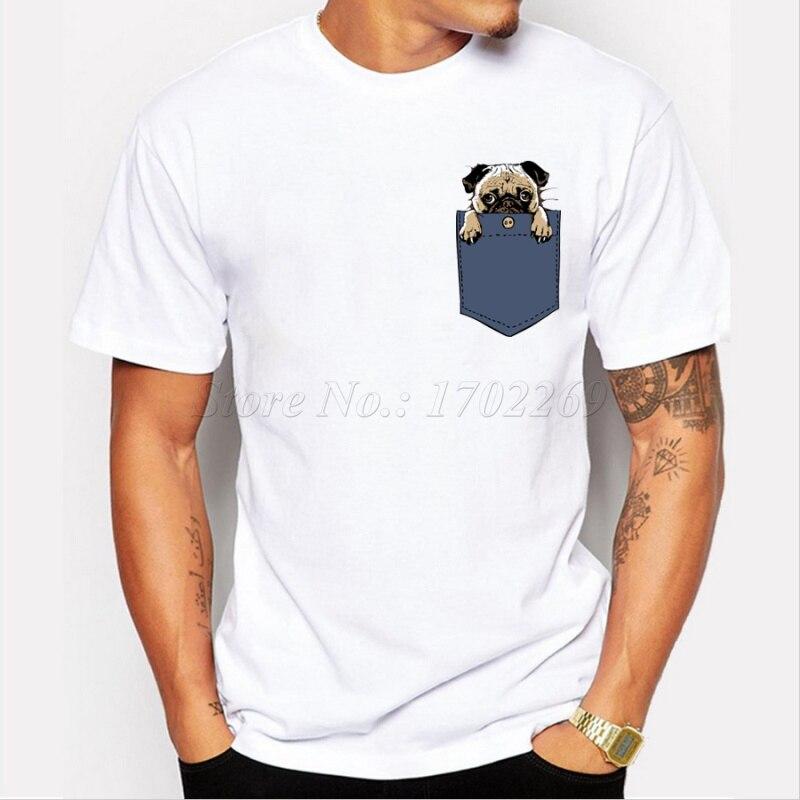 T-shirts Symbol Der Marke Coolmind Pu0116a 100% Baumwolle Hause Gehen Oder Go Hard Mops Gedruckt Männer Crewneck T Shirt Kurzarm Oansatz Männer T-shirt Tops Tees