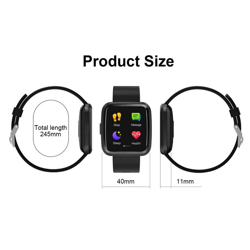 Smart Wristb Blood Pressure Measurement Heart Rate Sleep Monitor Smart Bracelet Fitness Tracker Full Touch Screen Smart band in Smart Wristbands from Consumer Electronics