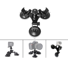 Tripods For Action Camera 3x Suckers Fixation Low Angle Removable Suction Cup Tripod Mount for Surfboard Car GOPRO HERO3 3+4