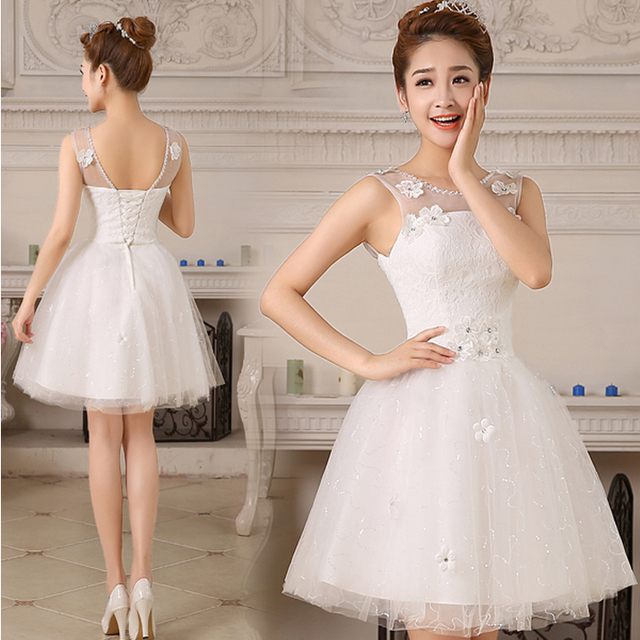 ivory short women\'s short formal bridesmaid modest formal tulle ...