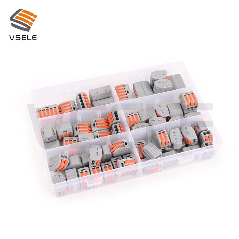 цена на VSELE wago wire connector, wire terminal, compact splicing connector wiring connector lighting connector 222-412 222-413 222-415