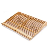 14 15 6 Inch Laptop Heatsink Bracket Bamboo Wood Cooler Base With Double Fan Cooling Pad
