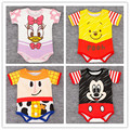 Summer Baby Rompers Cute Toddler Baby Boy Clothes Cartoon Short Sleeve Baby Jumpsuits Roupa Infant Girls Clothing