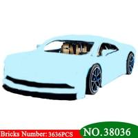 Новинка 38036 г. дизайн серии Хирон синий гоночный автомобиль модель строительные блоки комплект Совместимость 42083 Классические игрушки для д