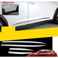 For Nissan Juke 2010 2016 Door Side Body Molding Trim tainless Steel Car Styling Cover Accessories