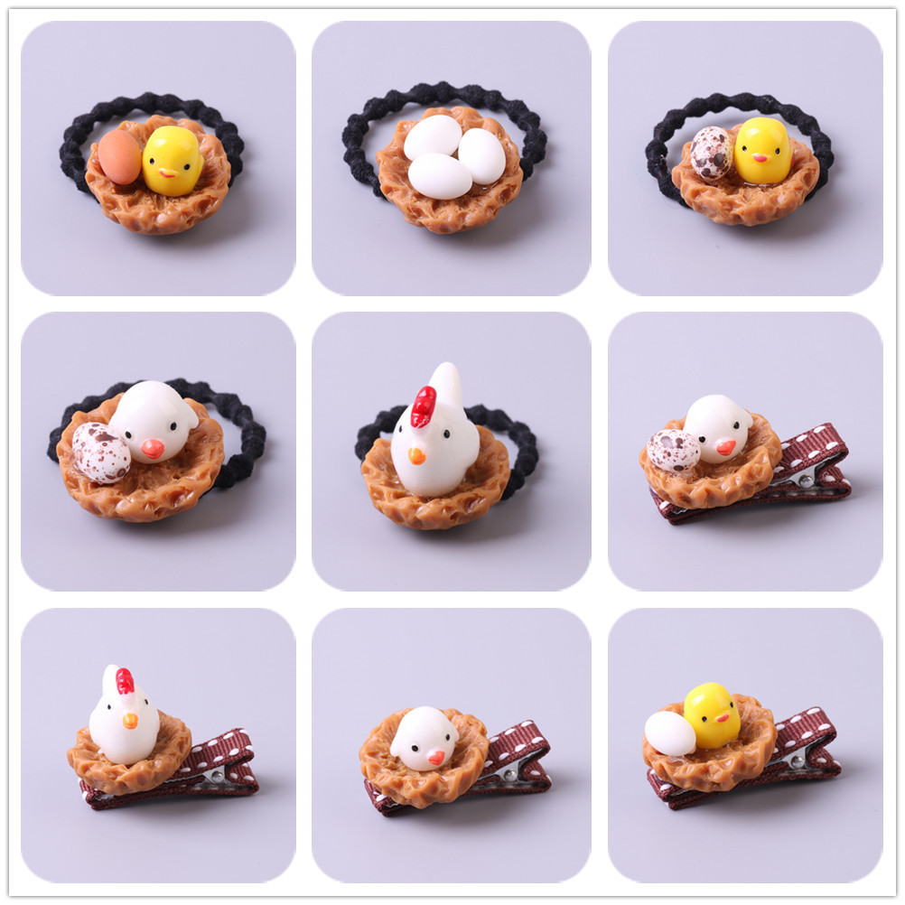 New Chicks And Eggs Kids Hair Clips Children Headwear Girls Hair Accessories Baby Hairpins Princess Barrette 1 pcs lovely cartoon swan temperament baby hairpins kids hair clips princess barrette children headwear girls hair accessories