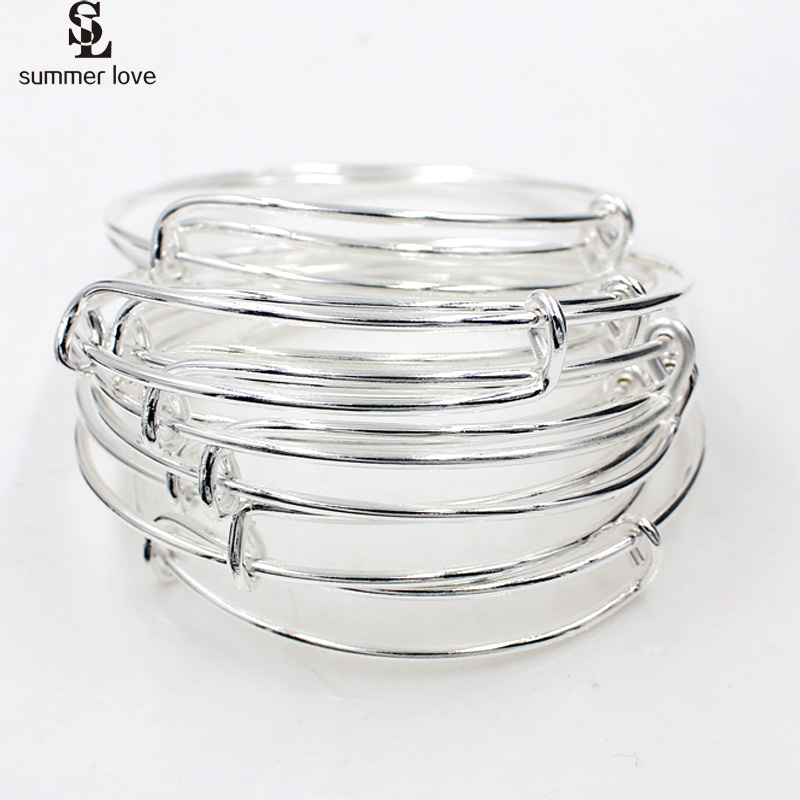 Diameter 5.8cm/5cm Children Wire Bangles Cable Expandable Bracelet For Charms Fashion Diy Jewelry Accessory pulseras