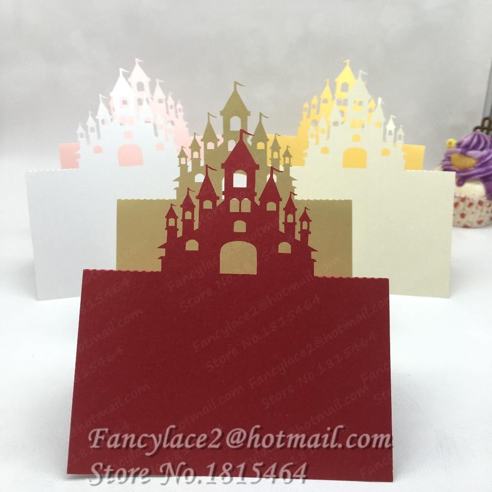 50pcs New Laser Cut Castle Damask Name Place Cards Table Cards ...