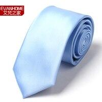 High Quality Nano Fiber Solid Color Ties For Men Fashion Light Blue 7cm Men's Ties Brand Neckties PROMOTION