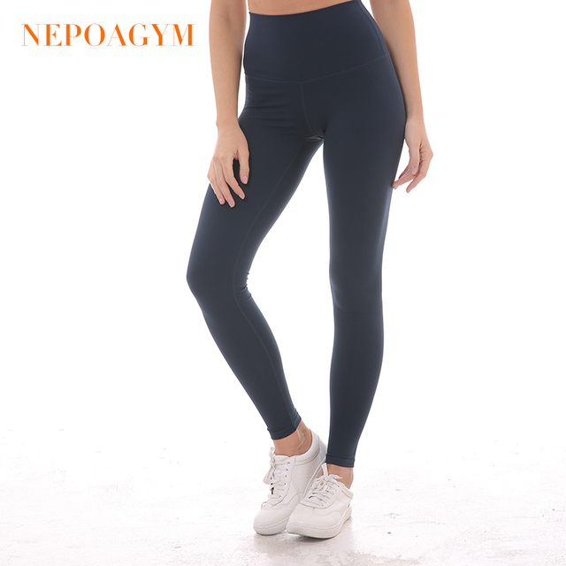 b93438f803e269 Nepoagym Women High Waist Yoga Leggings Squat Proof Yoga Pants with Hidden  Pocket Sports Tights Moisture