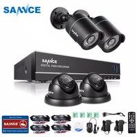 SANNCE DVR комплект 4CH 1080N системы видеонаблюдения 4 шт. 720 P камеры домашние наружного наблюдения комплект ИК ночного видения hd 1 ТБ