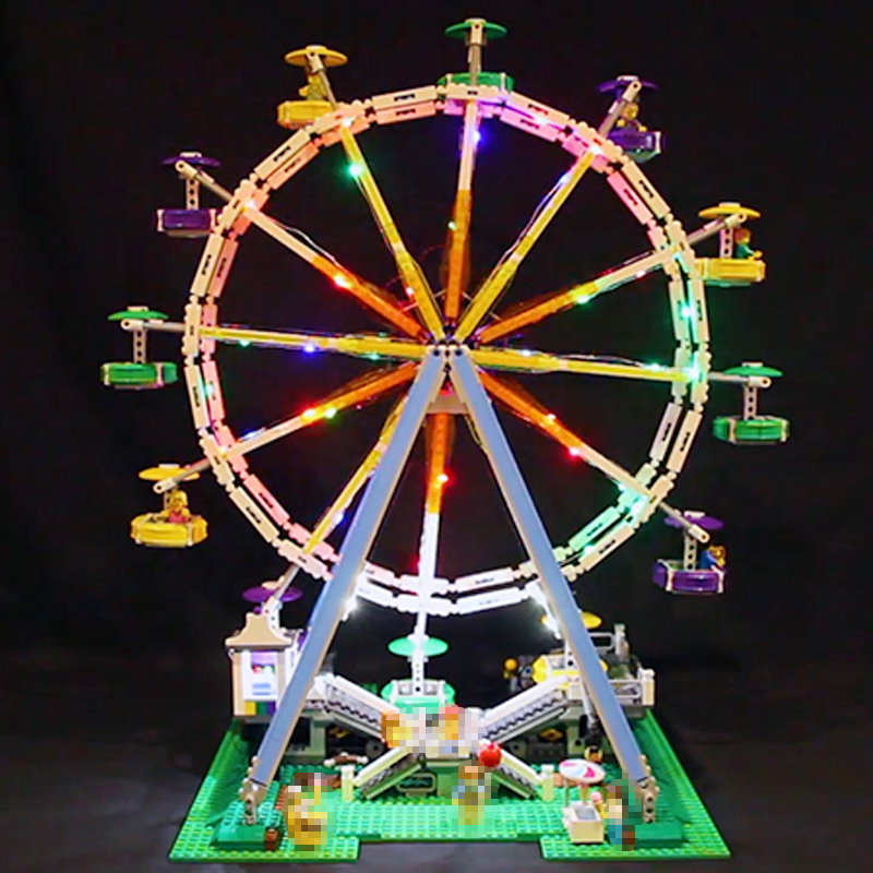 Led Light For Lego 10247 Building Blocks bricks Creator City Street Ferris Wheel Compatible 15012 Toys( light with Battery box) цена