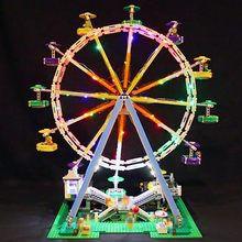 Led Light For Lego 10247 Building Blocks bricks Creator City Street Ferris Wheel Compatible 15012 Toys( light with Battery box) lepin 15012 2478pcs city street ferris wheel model building kits blocks toy children gifts 10247
