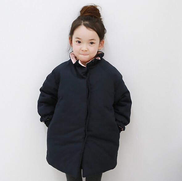 Winter Children Girls Warm Down & Parkas Children Long Outerwear Jacket & Coat for girls