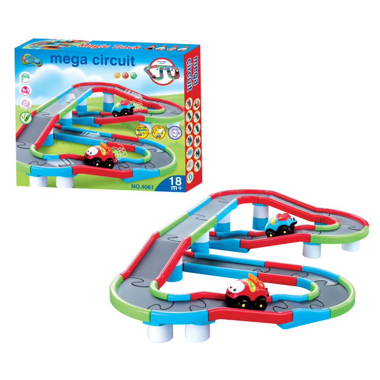Classic Toys for children Electric Rail Car Mega Circuit Railway Vehicles Electric car with Railway length 241cm Kids Toys