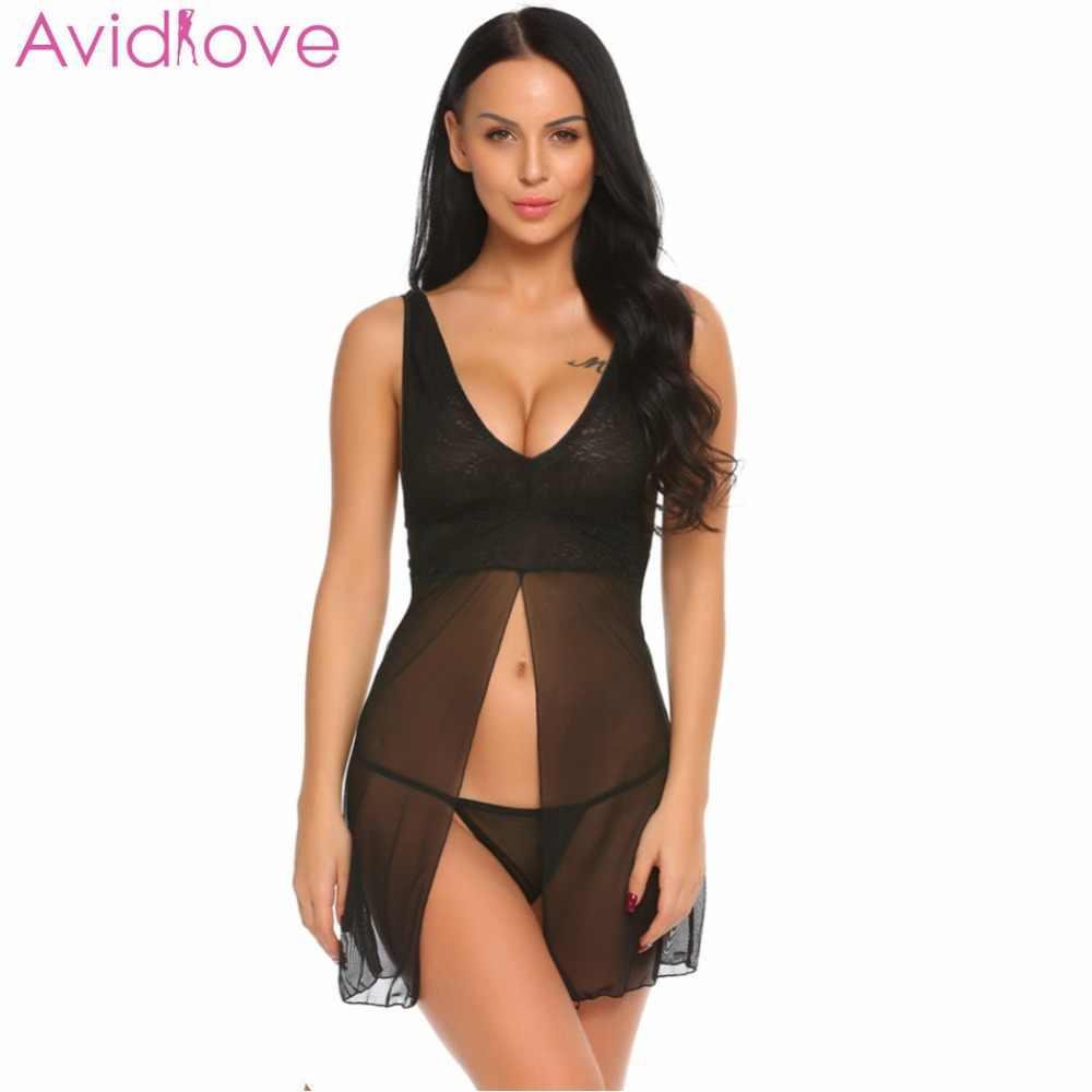 Avidlove Lady Lingerie Porn Nightgown Dress Women Mini Babydoll ...