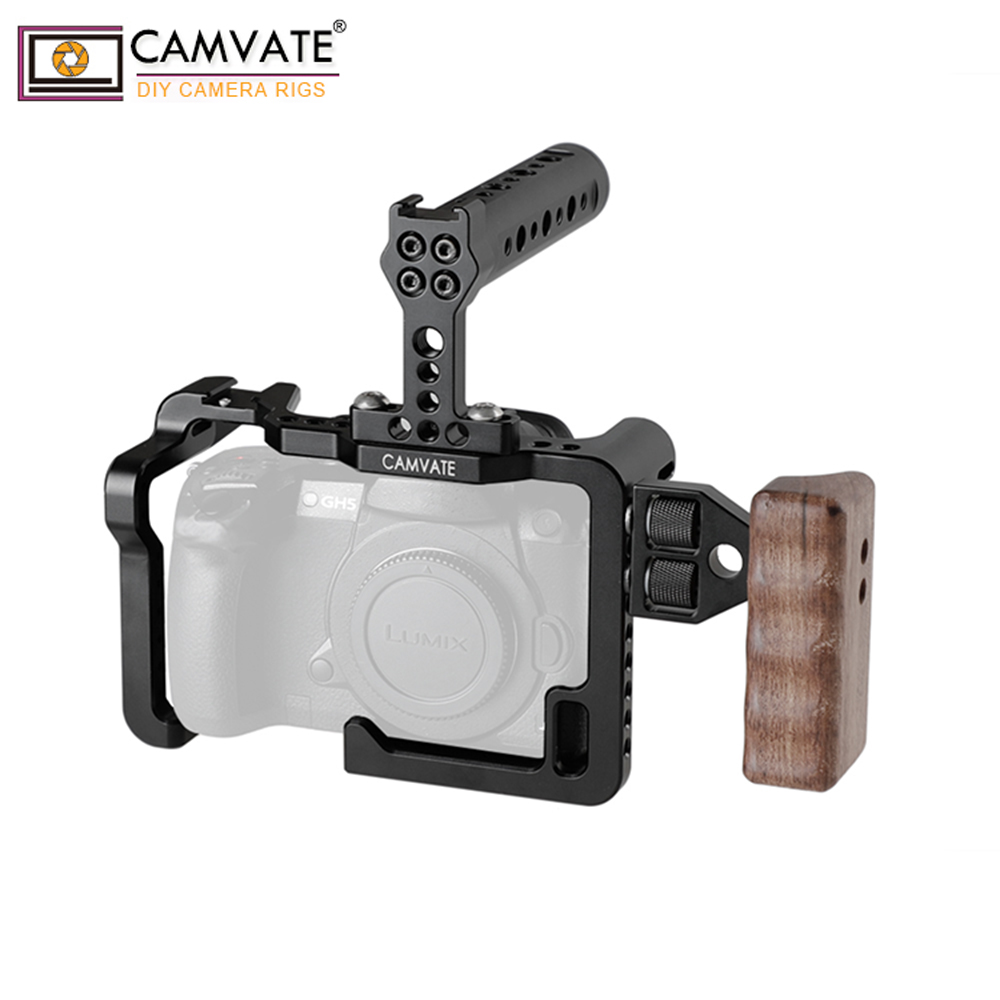 Image 4 - CAMVATE GH5 Full Cage Kit With Handles And Shoe Mountsp C1909-in Photo Studio Accessories from Consumer Electronics