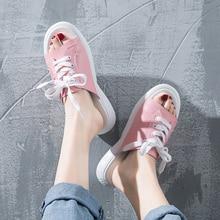 купить Shoes Woman White Slippers Outside Summer Open Toe Lace Up Flat  3.5cm Non- Slip Damping Beach Women Shoes Mules 2019 New по цене 743.91 рублей