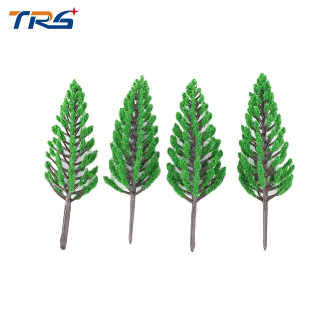 Teraysun 5cm Layout Model Train  ABS plastic Trees Rain Forest Scale  Model Building Kits Dollhouse Decoration Collection
