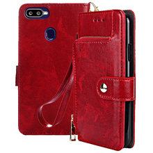 For Oppo F9 case OPPO Pro cover wallet Luxury Leather & Silicone back skin pouch A7x Holder Stand fundas