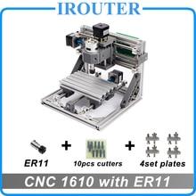 CNC 1610 z ER11, mini diy cnc grawerowanie laserowe maszyny, Pcb Frezarka, Rzeźba W Drewnie routera, cnc1610, najlepszy Zaawansowane zabawki