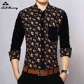2017 Casual Printed Shirt Hot Mens Dress Shirts Slim Fit Long Sleeve High Quality Men Dress Style