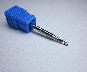 """Image 4 - סיטונאי קוטר 1 מ""""מ 1.5mm 2mm 2.5mm 3.175mm טונגסטן קרביד אחת 1 חליל סוף מיל כרסום חותך CNC Bits עבור אקריליק"""