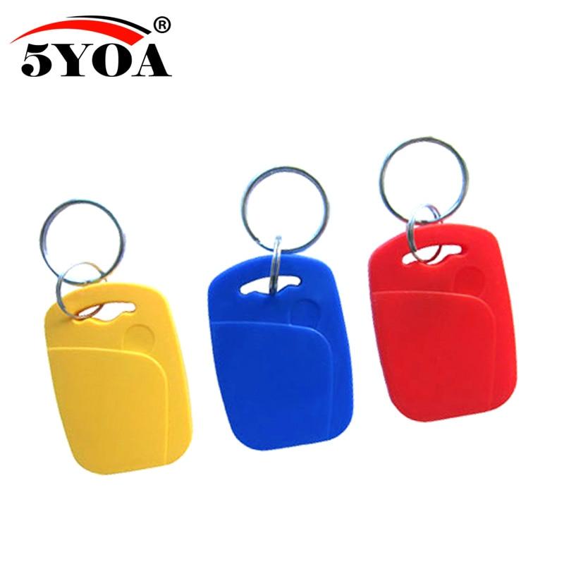 5pcs IC+ID UID Rewritable Composite Key Tags Keyfob Dual Chip Badge RFID 125KHZ T5577 EM4305+13.56MHZ Changeable Writable(China)