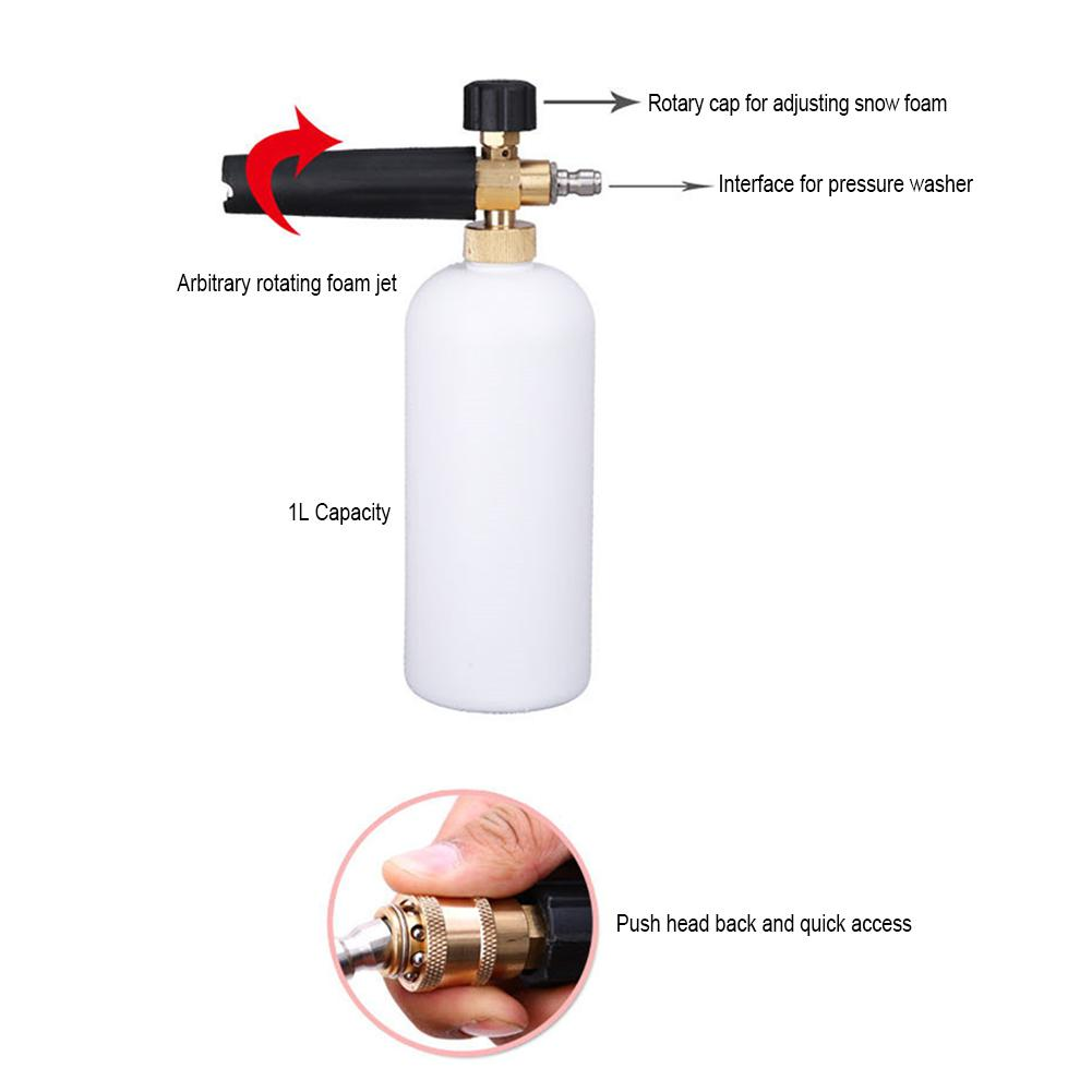 """Image 2 - Dragonpad 1/4"""" Adjustable Car Wash Gun Snow Foam Lance High Pressure Car Washer Bottle Cannon Tools-in Car Washer from Automobiles & Motorcycles"""