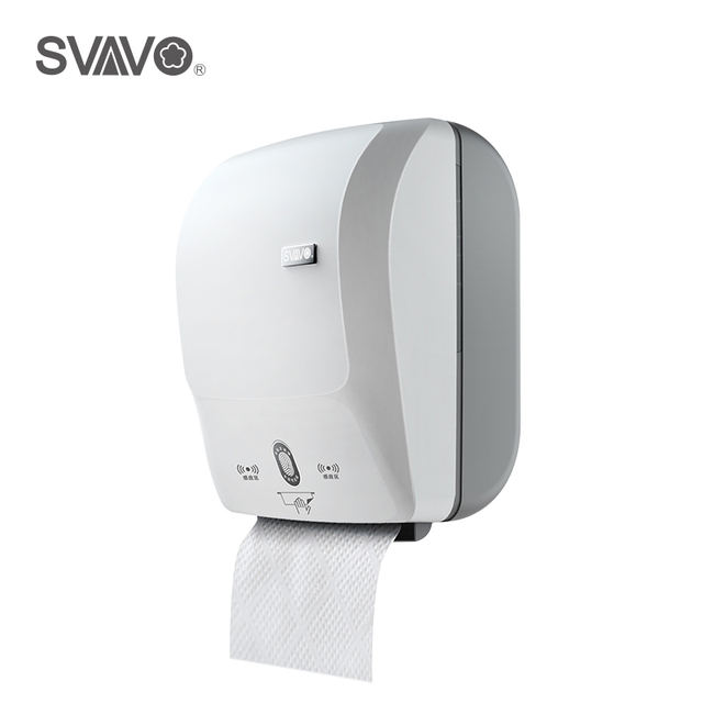 Automatic Paper Towel Dispenser For Kitchen Cabinet Restoration Wall Mounted New Abs Plastic Sensor Touch Free Tissue Holder