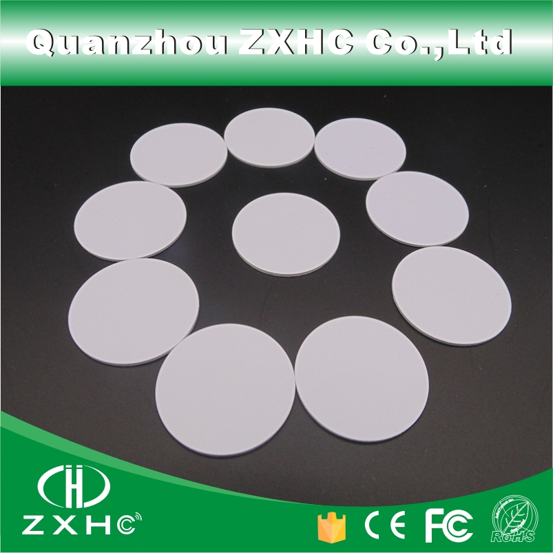 (10pcs) Round Shape 25mm NFC Tag Ntag213(Ntag203 is compatible) Plastic(PVC) Coin Cards Used For Android And All NFC Phone