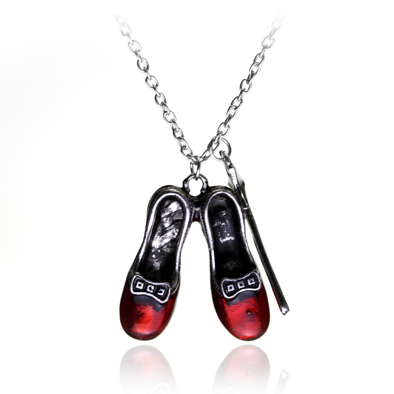 hot film Alice in wonderland magic wand red shoes necklace gift for movie fans Have in stock support dropping