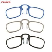 a72166dab GUARDA-ROUPA Moda Clipe Nariz Óculos de Leitura Das Mulheres Dos Homens Com  Caso Mini Ultraleve Carteira Mais Velho Óptica .