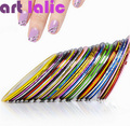 10 unids Striping Line Tape Nail Art Sticker Decoración DIY Tatuajes de Gel UV Acrílico Nail Tips